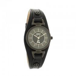 Montre LTC ref TCA06, cad noir, brac cuir noir