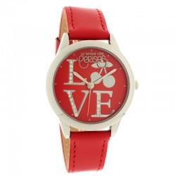 Montre LTC ref TCA14, cad rouge, brac cuir rouge