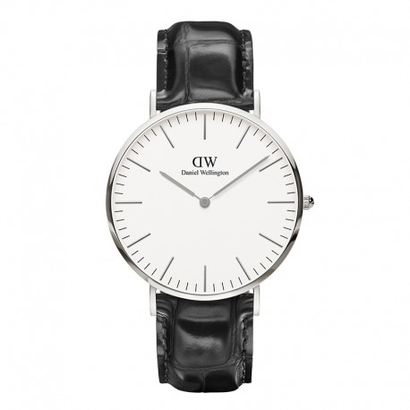 Montre Daniel Wellington READING Ref DW00100028-Ø40-SV-cuir