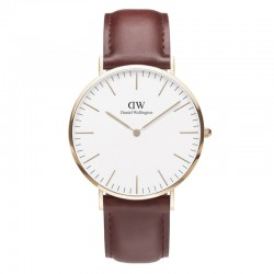 Montre Daniel Wellington SUFFOLK Ref DW00100120-Ø40-RG-cuir