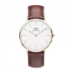 Montre Daniel Wellington SUFFOLK Ref DW00100122-Ø36-RG-cuir