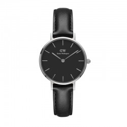 Montre Daniel Wellington SHEFFIELD Ref DW00100236-Ø28-SV-cuir
