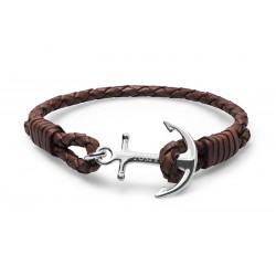 Bracelet Tom Hope Cuir Style, marron Taille L