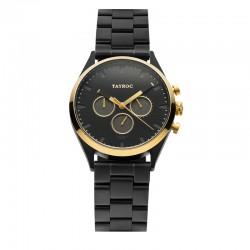 Montre Tayroc Homme ref TY36, cad noir, brac métal noir