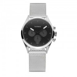 Montre Tayroc Homme ref TY42, cad noir, brac métal silver