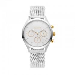 Montre Tayroc Femme ref TY49, cad blanc, brac métal silver
