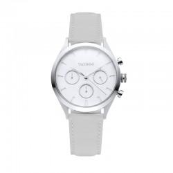 Montre Tayroc Femme ref TY59, cad blanc, brac cuir gris