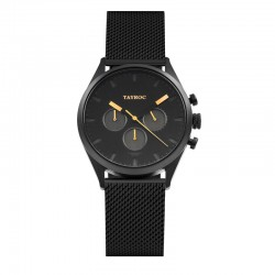 Montre Tayroc Homme ref TY32, cad noir, brac métal noir