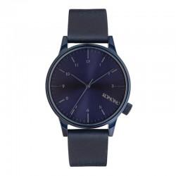 Montre KOMONO ref 2266, cad bleu, brac cuir bleu
