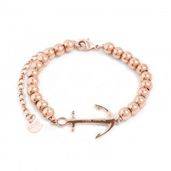 Bracelet Tom Hope Saint Perline Rose Doré