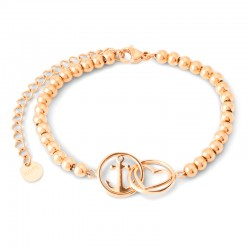 Bracelet Tom Hope chain beads Love and hope rosegold