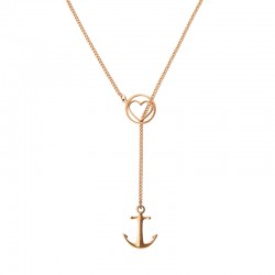 Collier Tom Hope Heart and anchor rosegold