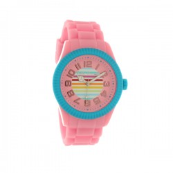 Montre LITTLE MARCEL ref LM38, cad rose, brac silicone rose