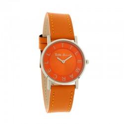 Montre LITTLE MARCEL ref LM48, cad orange, brac cuir orange
