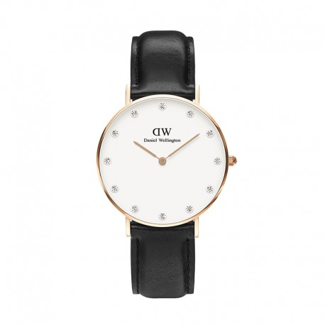 Montre Daniel Wellington SHEFFIELD Ref DW00100076-Ø34-RG-cuir