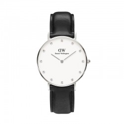 Montre Daniel Wellington SHEFFIELD Ref DW00100080-Ø34-SV-cuir