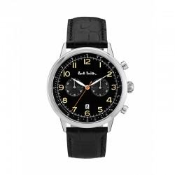Montre P. Smith ref P10011, PRECISION CHRON, cad noir, brac cuir noir