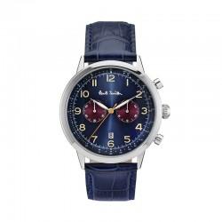 Montre P. Smith ref P10012,PRECISION CHRONO, cad bleu, brac cuir bleu