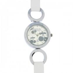 Montre LTC ref TC44, cad silver, brac cuir