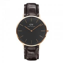 Montre Daniel Wellington YORK Ref DW00100128-Ø40-RG-cuir