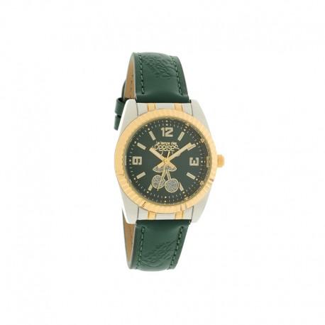Montre LTC ref TCA02, cad vert, brac cuir vert, 30mm