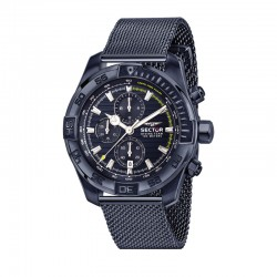 DIVING TEAM 45MM CHR BLUE DIAL MESH BLUE