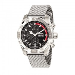 DIVING TEAM 45MM CHR BLACK DIAL MESH SS