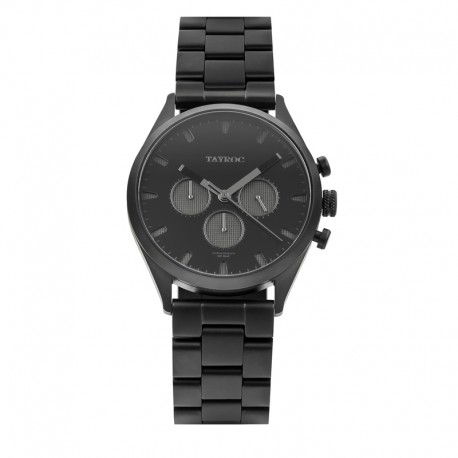 Montre Tayroc Homme ref TY43, cad noir, brac métal noir