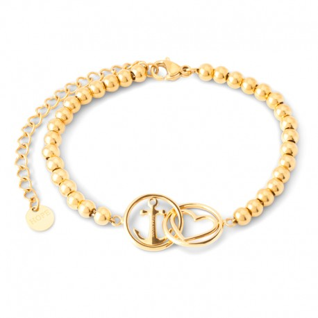 Bracelet Tom Hope chain beads Love and hope gold