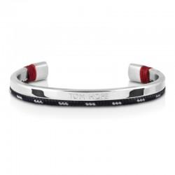 Bracelet Tom Hope Hybrid Cuff-SV/BL/GR-taille S