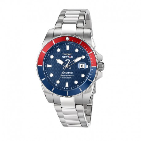 450 41MM 3H AUTO BLUE DIAL BR SS