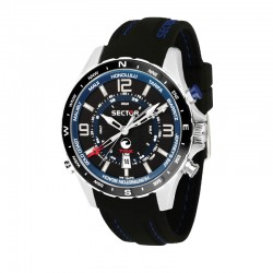 SURFING WATCH 46mm BLK DIAL BLK SILICONE