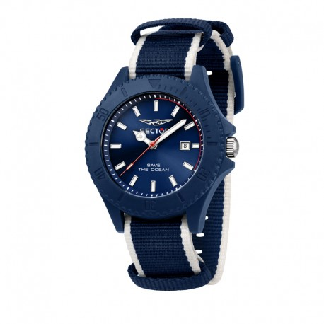 SAVE THE OCEAN 43MM 3H BLUE DIA BLU+WH S