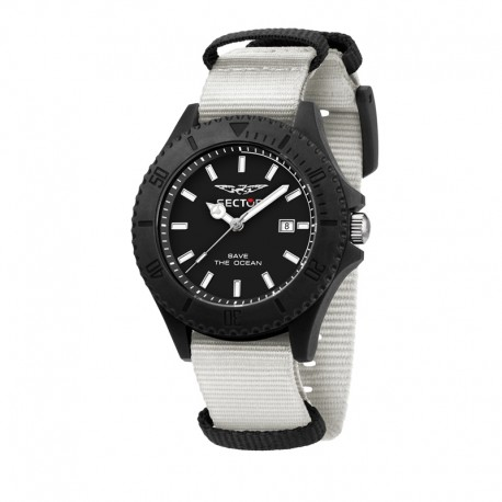 SAVE THE OCEAN 43MM 3H BLK DIAL WHITE ST