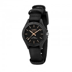 SAVE THE OCEAN 32MM 3H BLK DIAL BLK ST