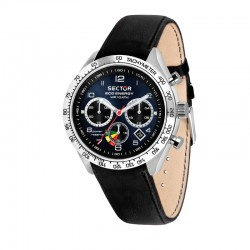 695 ECO SOLAR CHR 45MM BLUE DIAL BLK ST