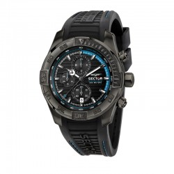 DIVING TEAM 45MM CHR BLK DIAL BLK STRAP