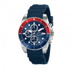 450 43MM CHR BLUE DIAL BLUE SILICON STR