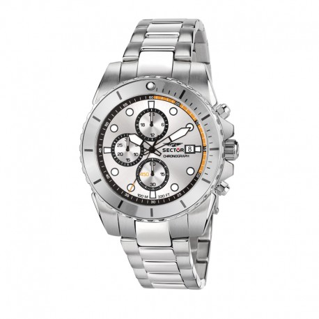 450 43MM CHR SILVER/WHT DIAL BR SS