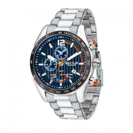 330 YACHTING 45MM CHRO BLUE DIAL BR SS