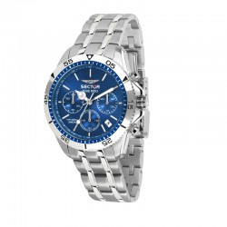 SGE 650 CHR 42MM BLUE DIAL BR SS