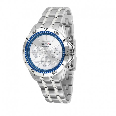 SGE 650 CHR 42MM W/SILVER DIAL BR SS