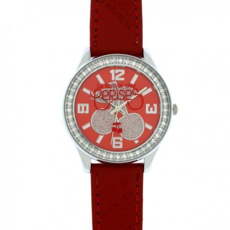 Montre LTC ref TC46, cad rouge, brac rouge