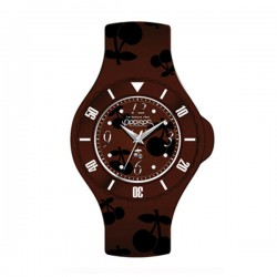 Montre LTC ref TC52 cad marron, brac silicone marron