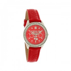 Montre LTC ref TC54 small, cad rouge, brac cuir rouge