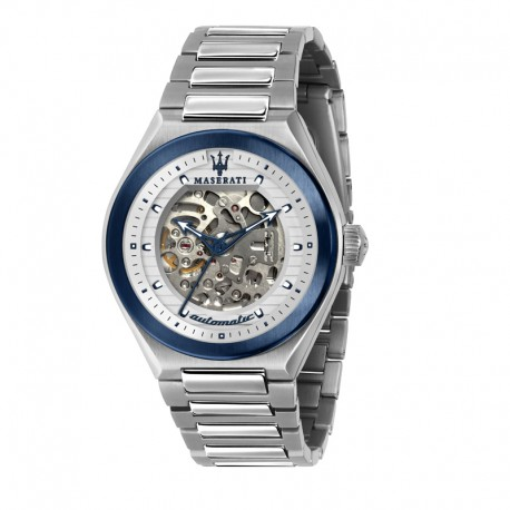 TRICONIC 43mm AUTO WHITE DIAL BR SS