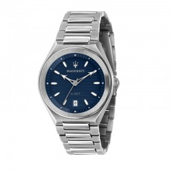 TRICONIC 40MM 3H BLUE DIAL BR SS