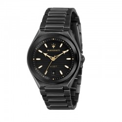 TRICONIC 40MM 3H BLACK DIAL BR BLACK