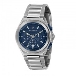 TRICONIC 43MM CHR BLUE DIAL BR SS