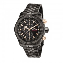 DIVING TEAM 45MM CHR BLACK DIAL BR IP BL